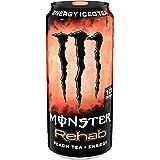 Monster Rehab, Peach Tea + Energy, 15.5 Ounce (Pack of 24)