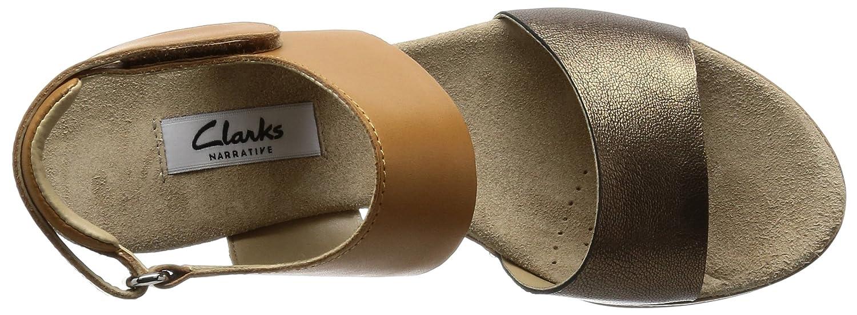 Clarks Sportlich Elegant Damen Akilah Haze Leder Sandalen In