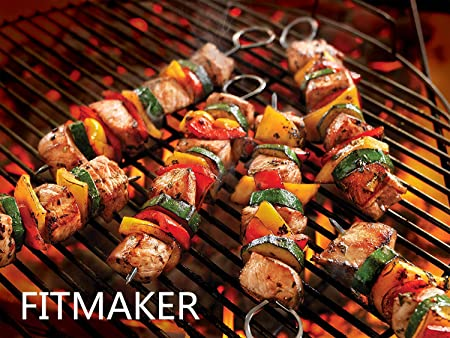 BBQ Stick Skewers Barbecue Kebab Kabob Grilling Stainless Steel 12inch Set of 12