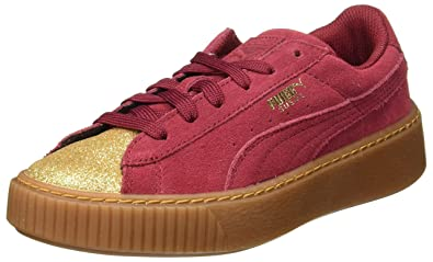 best service 2da8c 3e15c Puma Suede Platform Glam Jr 36492102, Trainers: Amazon.co.uk ...