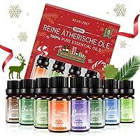 Aceites Esenciales 100% Puros Naturales, 8 * 10ml Set de Aromaterapia Aceites Esenciales para Humidificador y Diffusor…
