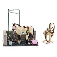 Schleich 42104 - Accessoire Pour Figurine - Box De Lavage Pour Chevaux