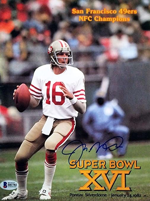Image Unavailable. Image not available for. Color  Joe Montana Signed SF  49ers NFC Champs SB XVI Program ... 062c2d3a1