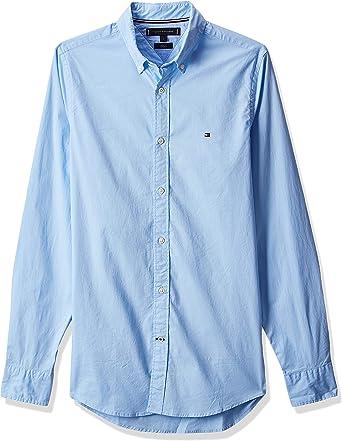 Tommy Hilfiger Core Stretch Slim Poplin Shirt Camisa para Hombre: Amazon.es: Ropa y accesorios