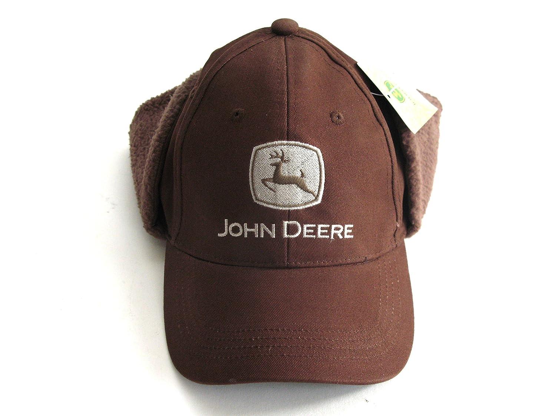 Gorra John Deere aviador marron. Orejeras de algodón.: Amazon.es: Ropa y accesorios