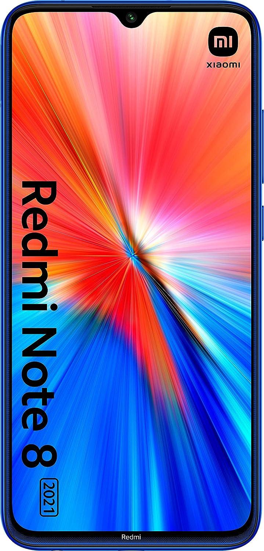 Xiaomi Redmi Note 8 Edición 2021- Smartphone 4GB RAM + 64GB ROM MediaTek Helio G85 Octa-Core Processor, Azul (Versión ES/PT)