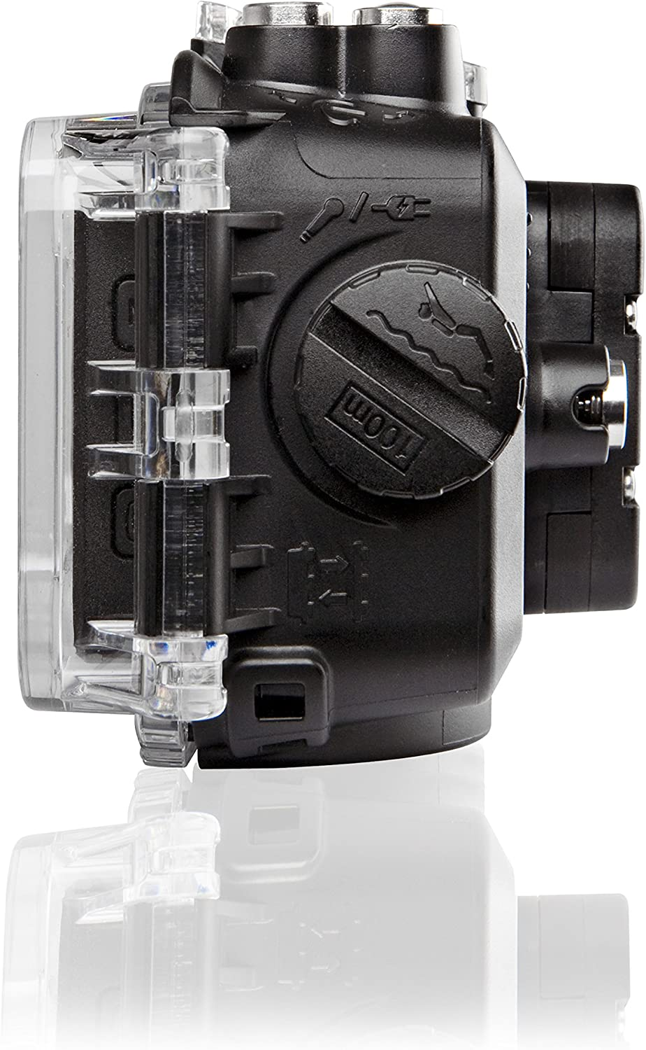 Black Veho VCC-A035-WPC Waterproof Case for MUVI K Series Video Camera