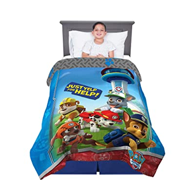 "Franco Kids Bedding Super Soft Microfiber Comforter, Twin Size 64"" x 86"", Paw Patrol: Home & Kitchen"