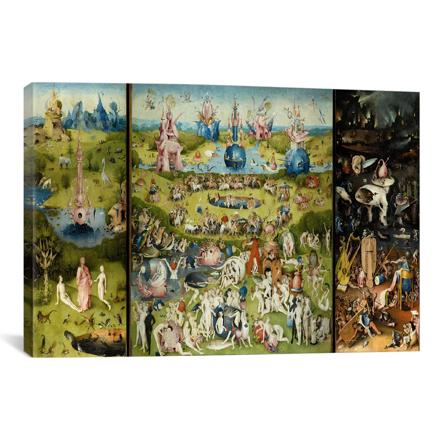 iCanvasART The Garden of Earthly Delights by Hieronymus Bosch Canvas Art Print, 40 by 26-Inch by iCanvasART