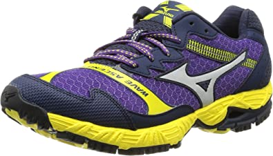 Mizuno Zapatilla Running Wave Ascend 12 Morado/Plata EU 40.5 (UK 7): Amazon.es: Zapatos y complementos