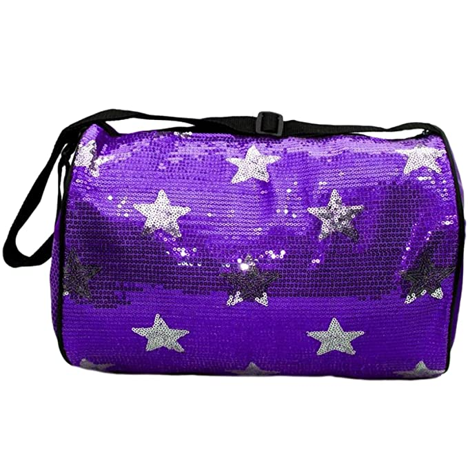 Image Unavailable. Image not available for. Color  Dance Bag Sequin Star  Round Duffle Purple b0fd7e3de65f7