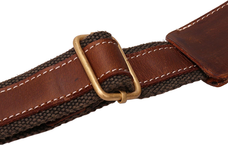 Iblue Genuine Leather Padded Shoulder Strap For Briefcase Luggage Bag #J3 brown 02
