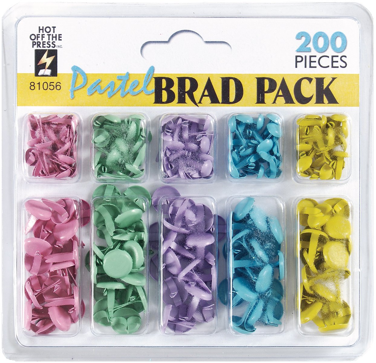 Hot off the Press Brad-Pack 200-Pack, Pastel H810-81056