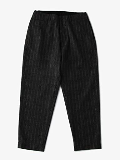Stripe Saxony Wool Tapered Pants 1114-199-6047: Dark Grey