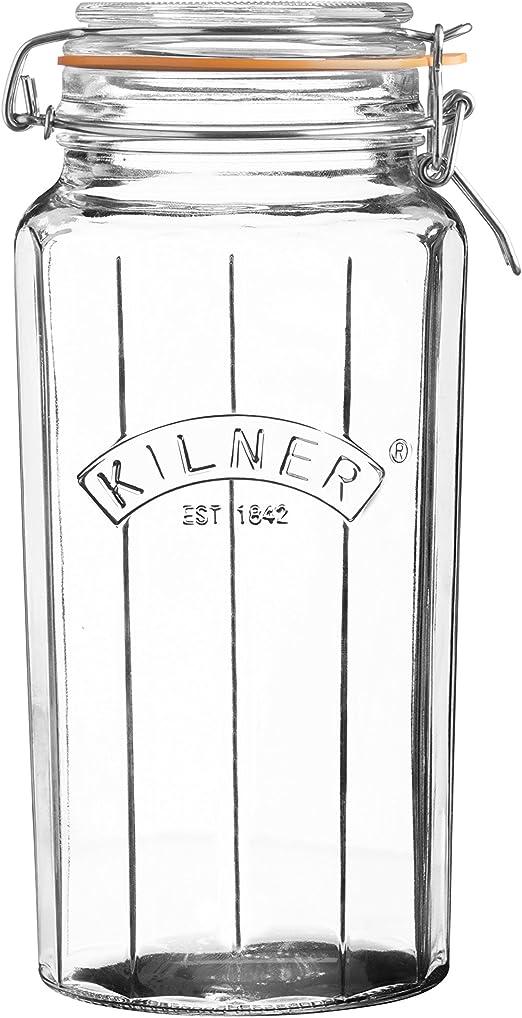 PRESERVING JARS KILNER FACETTED CLIP TOP PRESERVE STORAGE