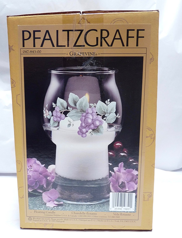 Pfaltzgraff Grapevine Glass Floating Candle