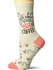 K. Bell Socks womens Fun With Words Novelty Saying Crew Socks Casual Sock