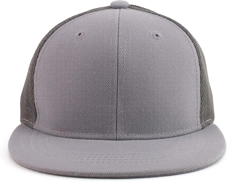 Trendy Apparel Shop Kids Size Structured Flatbill Snapback Trucker Cap