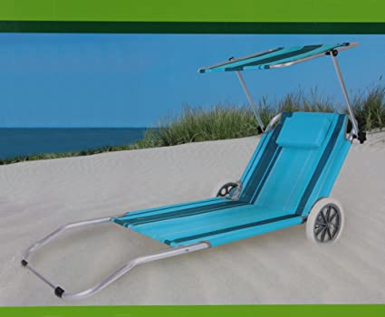 Sdraio Da Spiaggia Con Ruote.Lettino Da Spiaggia Con Ruote Della Spiaggia E Transport Liege Neu
