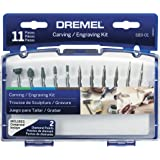 Dremel 689-01, Carving and Engraving Rotary Tool Accessory Kit, Perfect for use Wood, Metal, and Glass (11 Piece)