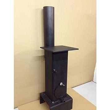 [Existencias en RU] Calentador de estufa, estufa de leña mini, para cobertizo, taller, casa de verano: Amazon.es: Deportes y aire libre