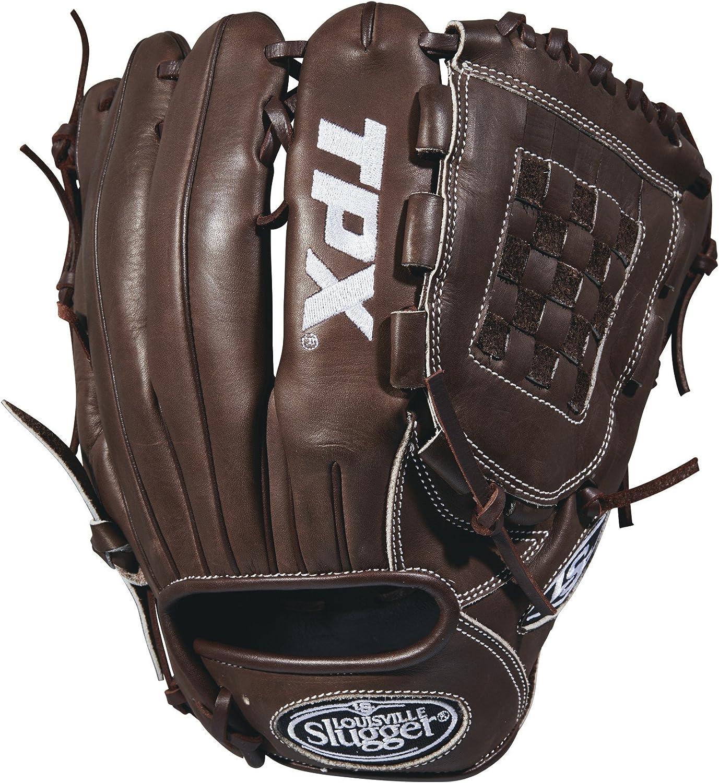"""Louisville Slugger 2018 Tpx Pitcher's Baseball Glove - Right Hand Throw Dark Brown/White, 11.75"""""""
