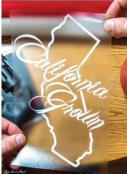 California state cali grown bear outline vinyl decal sticker custom by luke duke decals