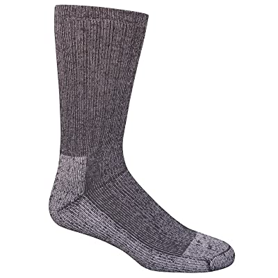 Fruit of the Loom Men's Work Gear Crew Socks with Arch Support | Breathable & Lightweight | 2 Pack Socks, Black, Shoe Size 6-12/Sock Size 10-13 at Men's Clothing store