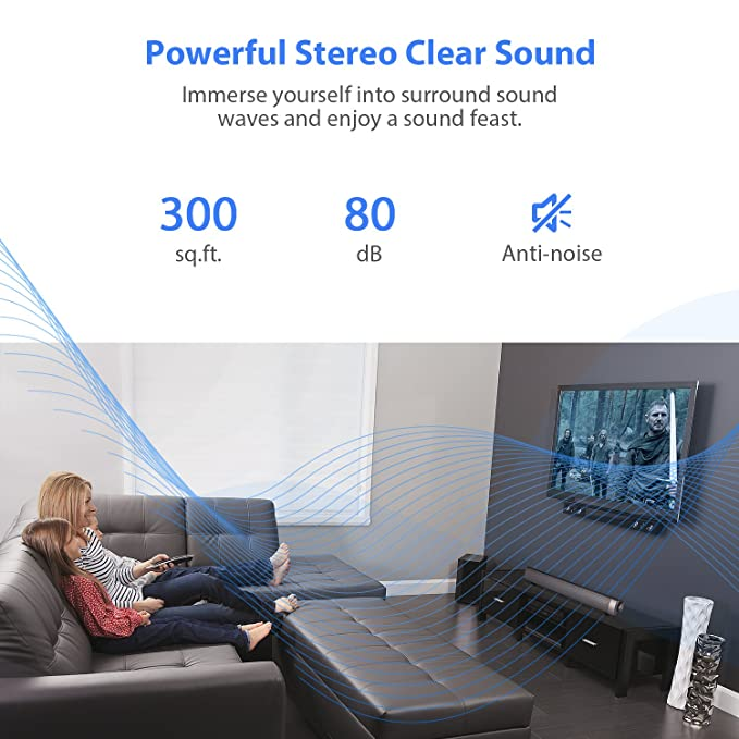 Amazon.com: Sound Bar [2018 Upgraded] Soundbar Wired and Wireless Bluetooth Home Theater TV Speaker, AwesomeWare Surround Sound Bar for TV, PC, ...