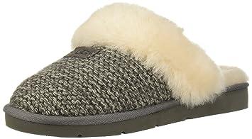 0b3ecafec UGG - Cozy Knit Slippers - Charcoal - Sheepskin Slippers (3 UK)