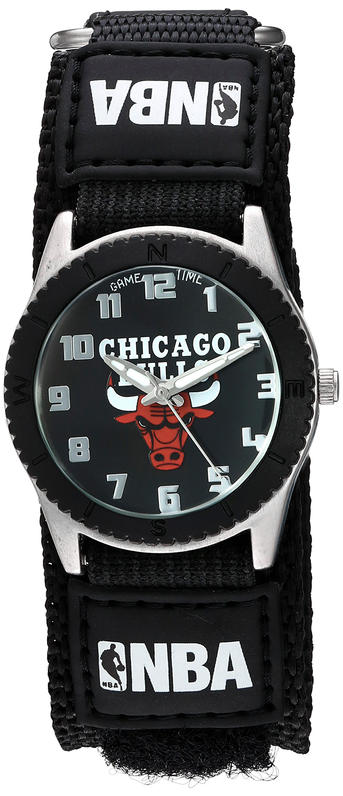 Game Time Unisex NBA-ROB-CHI ''Rookie Black'' Watch - Chicago Bulls