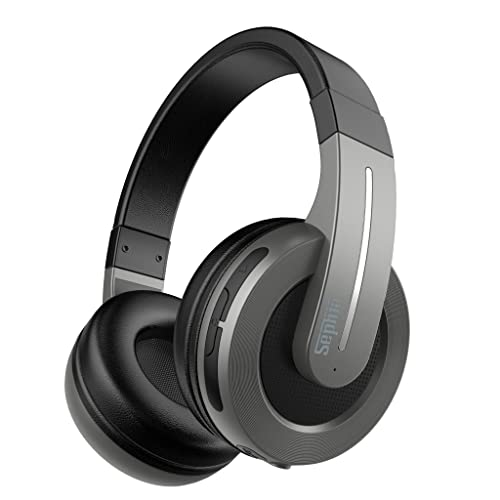 Sephia S6 Over Ear Wireless Bluetooth Headphones with Microphone for Iphone, Ipad, Ipod, Smartphones, Laptops, Tablets and Computers