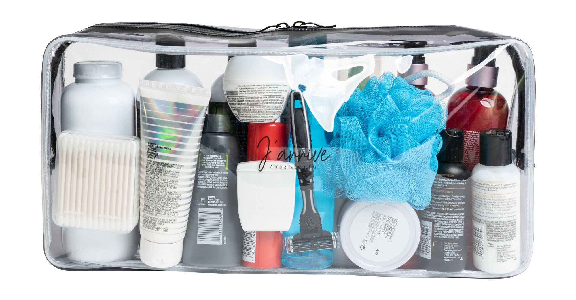 Extra-Large Clear Toiletry Bag/Transparent Leakproof Travel Bag/For Men and Women by J'arrive