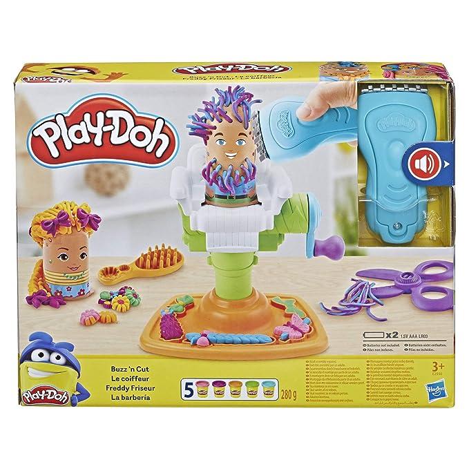 da02bb84901fdf Play-Doh Buzz  n Cut Fuzzy Pumper Barber Shop Toy  Amazon.co.uk  Toys    Games