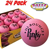 Premium Rubber Ball | 24 Balls PACK | Pinky Bouncy Ball | Colorful Gift Box and Balls Combo | Party Gift Supplies | 100% Solid Rubber High Bounce Pink Ball | Wall Ball For Kids | Bounciest Ball Games
