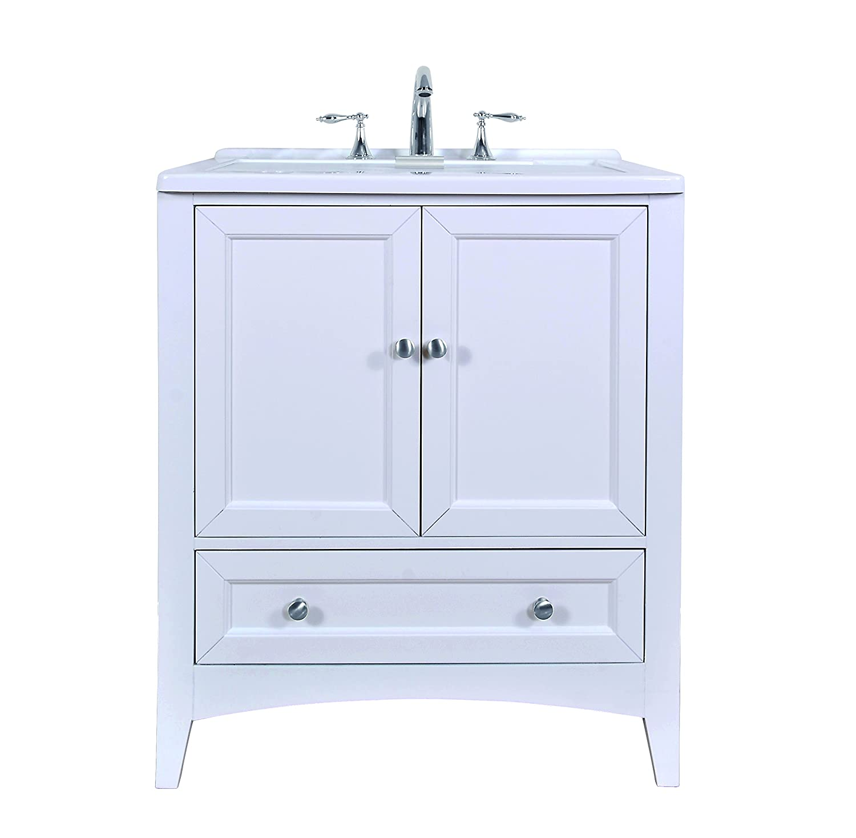 Stufurhome GM-Y01W 30.5-Inch Pure White Single Laundry Sink ...