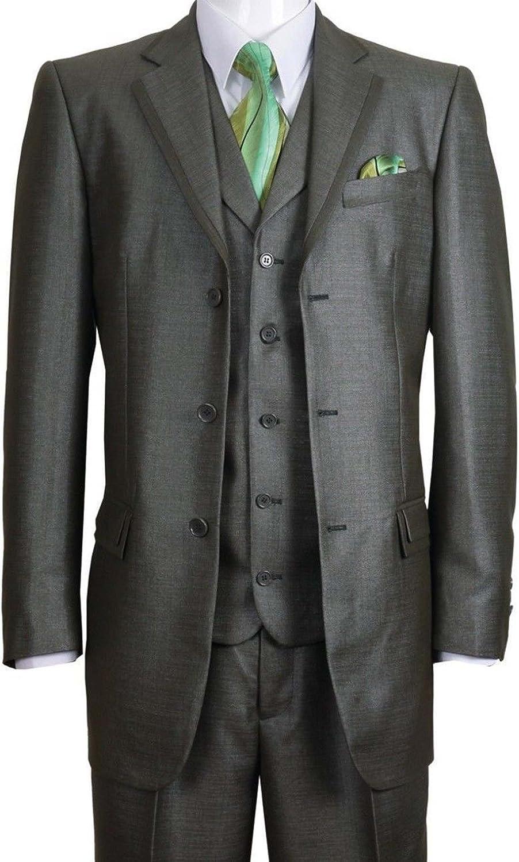 Fortino Landi High Fashion Suit with Edged Notch Lapel 5909V