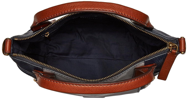 Fossil Emerson Medium Satchel Blue Multi Handbags Brown New