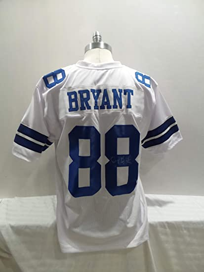 6bf59123c Dez Bryant Signed Dallas Cowboys White Autographed Novelty Custom Jersey