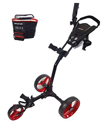 Paragon 3-wheelie Push Pull Folding 3 Wheel Golf Push - Pull Cart