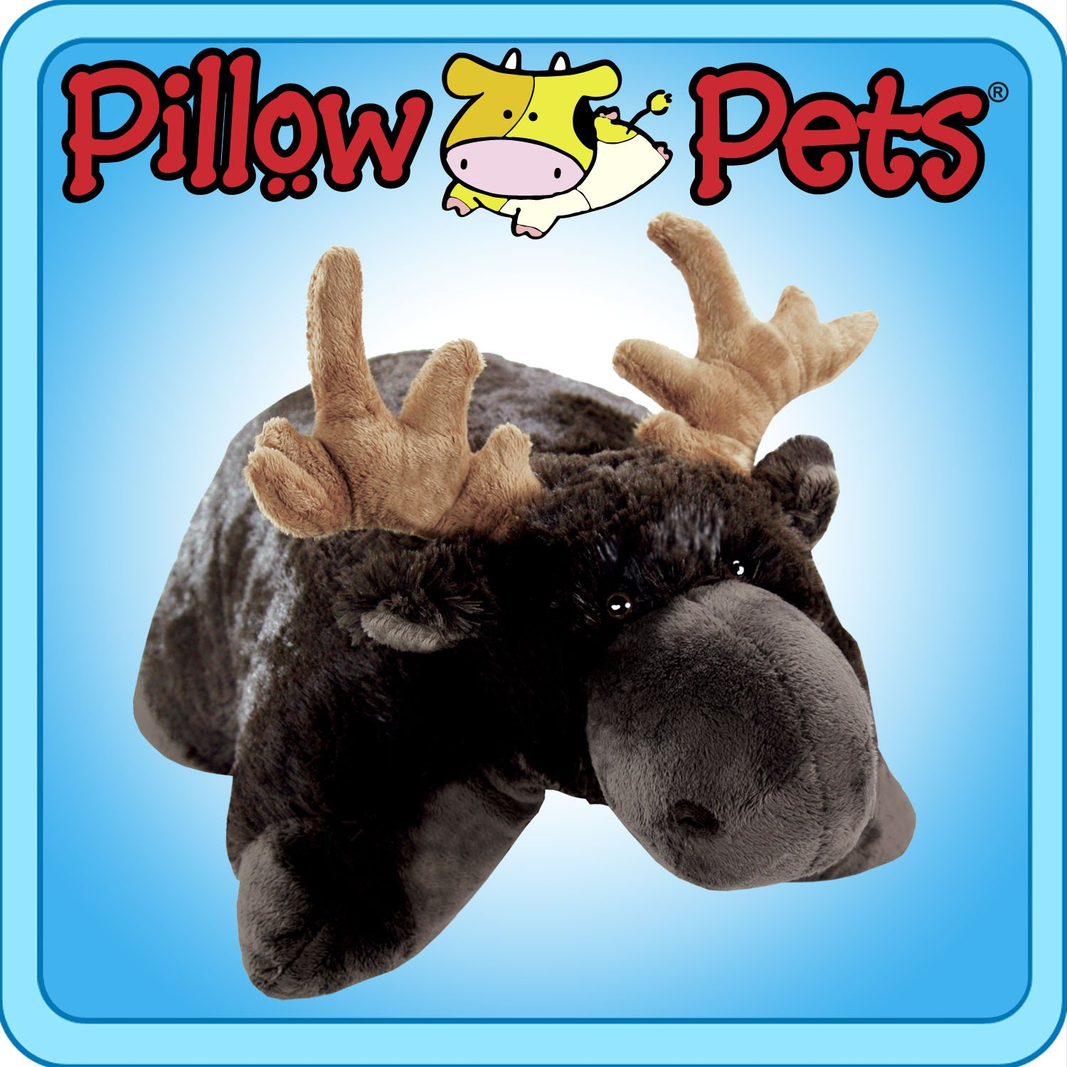 Amazon.com: My Pillow Pet Chocolate Moose - Small 11 INCH (Brown ...