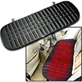 Zento Deals Car Rear Premium Quality Heated Black Seat Cushion-12V Plug Universal Pad Cold Weather Body Warmer