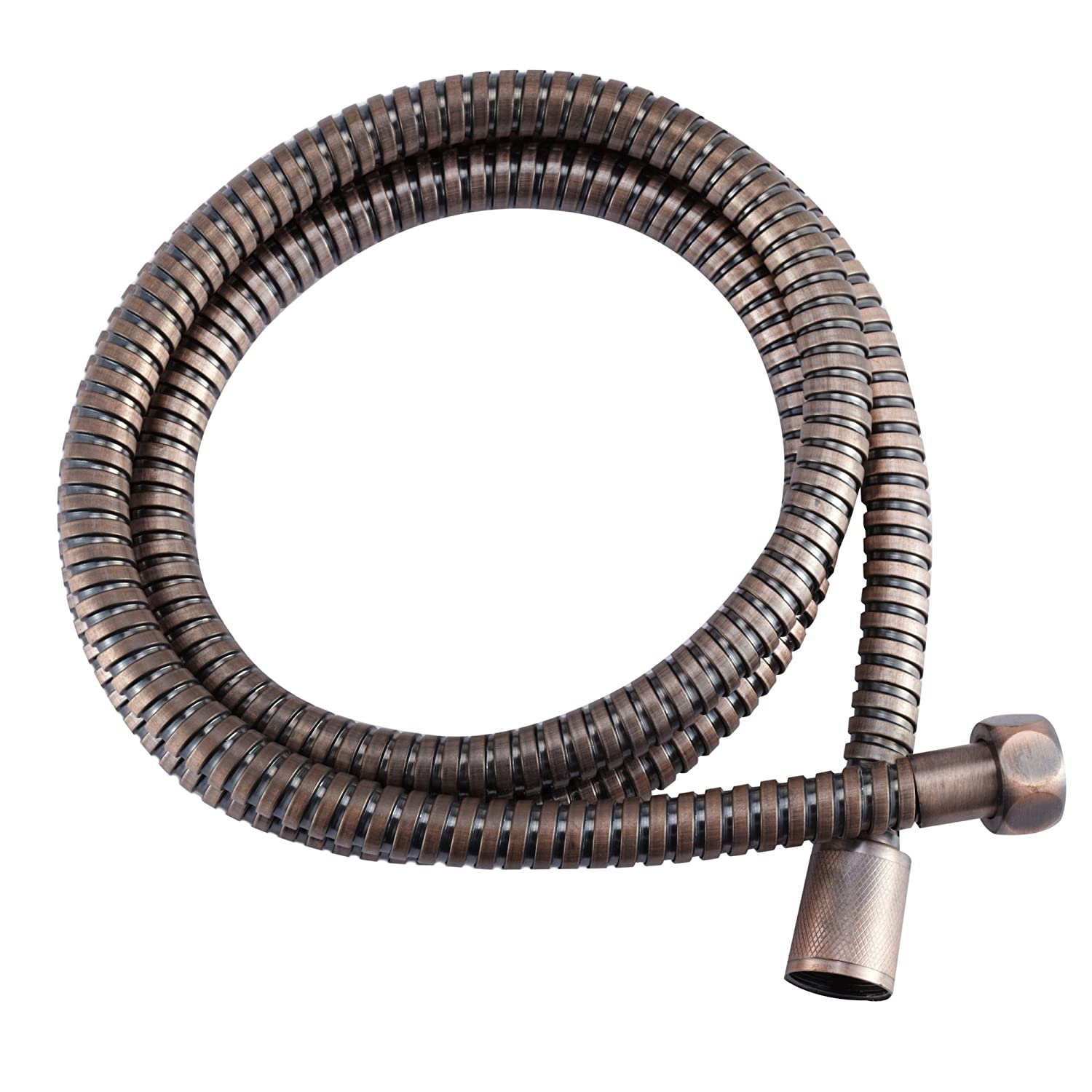 by Dura Faucet Stainless Steel Shower Hose Replacement 60 for Recreational Vehicles Bisque Parchment Travel Trailers and Campers Motorhomes