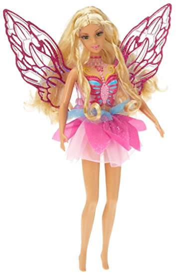 barbie rainbow lights fairy amazoncouk toys games