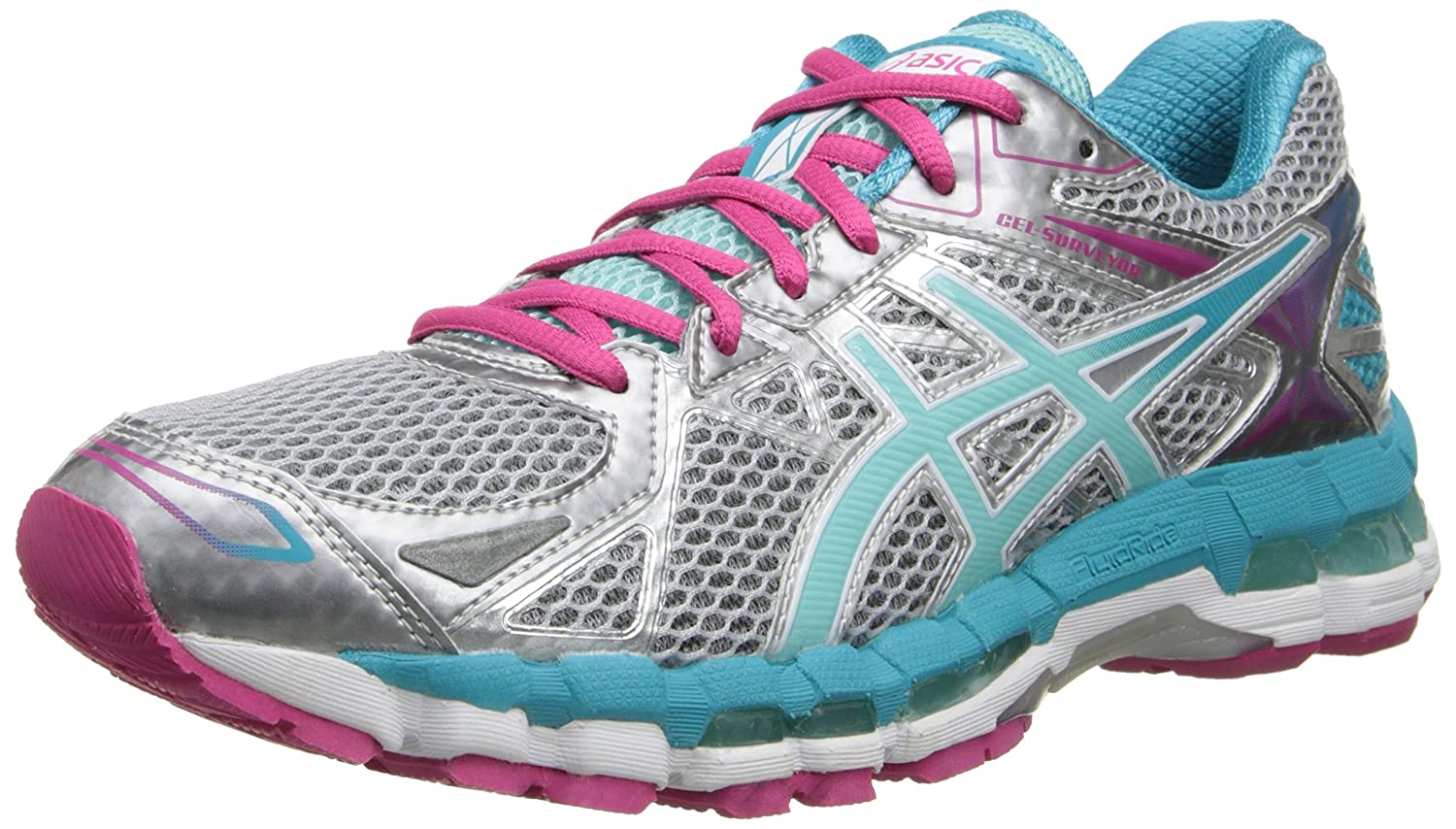Amazon.com | ASICS Women's Gel-Surveyor¿ 3 Lightning/Ice Blue/Hot Pink 12 B  - Medium | Road Running