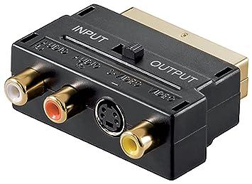 Scart Cinch Adapter vergoldete Kontakte: Amazon.de: Elektronik