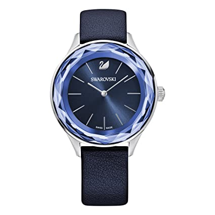 Amazon.com: Octea Nova Swarovski 5295349 watch blue dial blue leather strap: Watches
