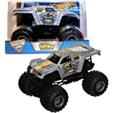 Hot Wheels Year 2016 Monster Jam 1:24 Scale Die Cast Metal Body Official Truck - 11 Times Champion Maximum Destruction MAX-D (DHY74) with Monster Tires, Working Suspension and 4 Wheel Steering