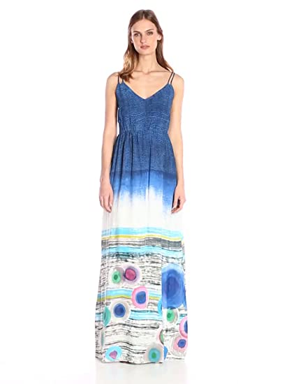 Desigual Womens Woven Dress Straps 4, Blue, 44 at Amazon Womens Clothing store: