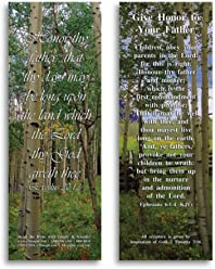 Bible Verse Cards, by eThought – Exodus 20:12 - Give Honor to Your Father - Pack of 25 Bookmark Size Cards for reading, study, gifts and encouragement.